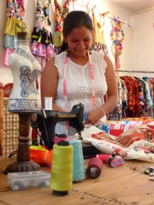 """Patrice Wynne, moved to Mexico and launched """"San Miguel Designs"""", a company that employs local women in a fair trade environment."""